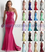 New Formal Wedding Long Evening Party Ball Gown Prom Bridesmaid Dress Size 6-18