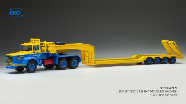 IXO 1/43 TTR011 BERLIET TBO 15 M3 6x4 1960 Handling Machine Porte Engin MILLON