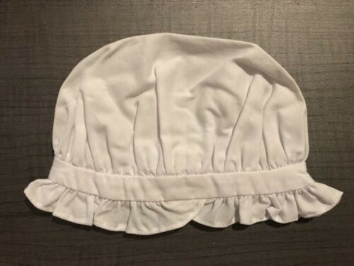 NWOB American Girl white Felicity School Cap hat RETIRED