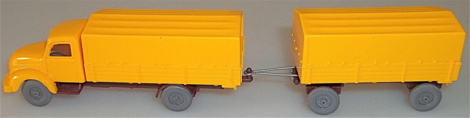 Pieux MAGIRUS rundhauber hängerzug jaune Mesureur h0 1 87 å
