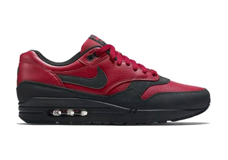Nike Air Max 1 LTR Leather Premium 705282-600 Men's US Red 9.5 Red US Black NEW $125 6ff32c