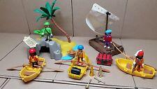 Playmobil Piraten Boote Insel Floß Palme..#426