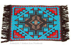 "Woven Placemat Table Mat Native American Southwestern Fringed 13x19"" design #5"