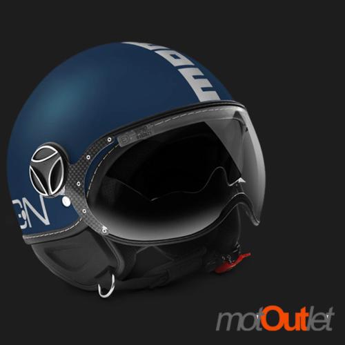 MOMO Design FGTR Evo Blu Opaco Casco Moto Jet