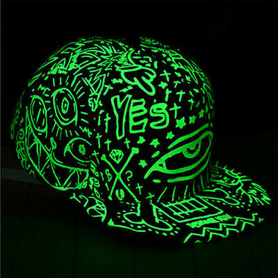 Funny Light In The Dark Night Luminous Glow Snapback Baseball Hip-Hop Cap Hat