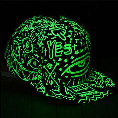 Funny Light In The Dark Night Luminous Glow Snapback Baseball Hip-Hop Cap Hat