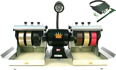 "BUTW CAB KING 6""  lapidary grinding polishing machine and accessories"