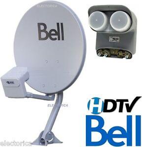 TWIN-20-034-DISH-500-BELL-EXPRESS-VU-HD-SATELLITE-DPP-LNB-SWITCH-NETWORK-SW21-SW44