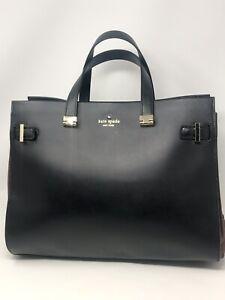New-Kate-Spade-Evangelie-Laurel-Way-Saffiano-Leather-Black-Carry-All-Work-Bag