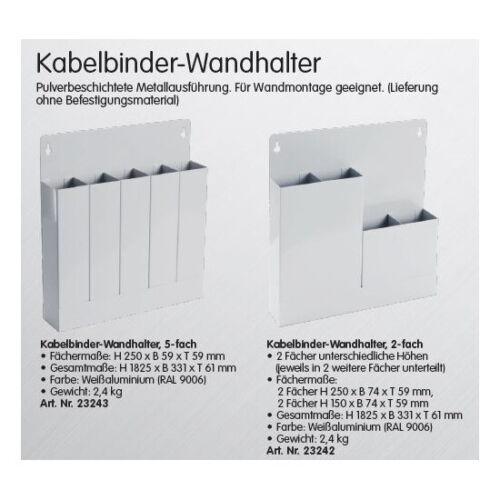 Kabelbinder Kabelbinderhalter Wandhalter Aufbewahrung Ordnung Fächer 346812