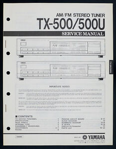 Wondrous Yamaha Tx 500 Tx 500U Original Am Fm Stereo Tuner Service Manual Wiring Cloud Hisonuggs Outletorg