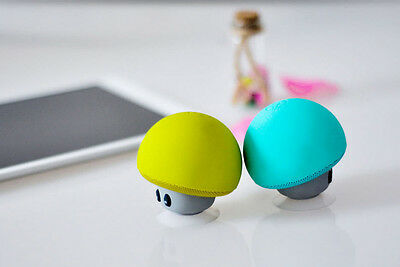 Waterproof Wireless Mini Bluetooth Mushroom Portable Stereo Speaker for iPhone K