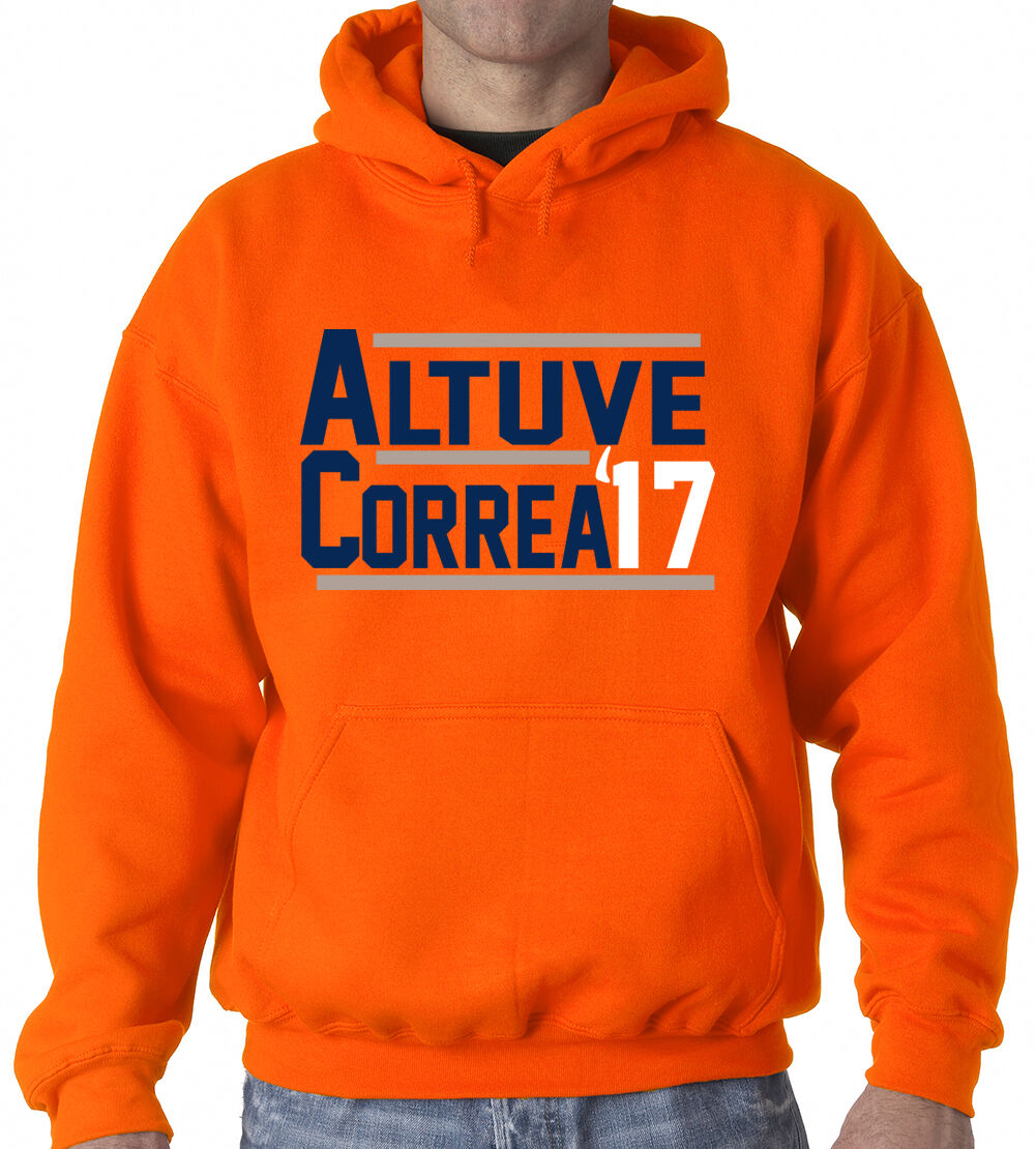 Jose Altuve Carlos Correa 17 Houston Astros jersey shirt Hooded SWEATSHIRT
