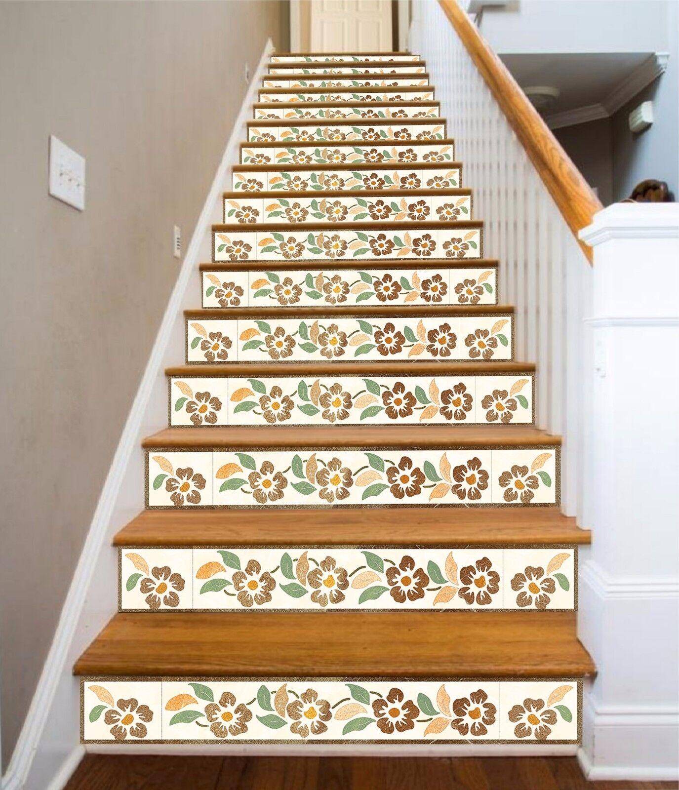 3D Flowers 61 Stair Risers Decoration Photo Mural Vinyl Decal Wallpaper AU Lemon