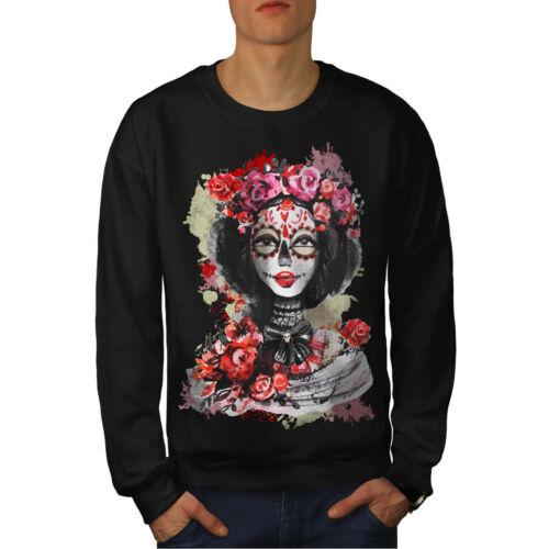 Sudadera Dead Skull Rose Sugar Nuevo Men Negro Zpvqn7w0W