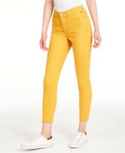 Tommy Hilfiger Women Plus Denim Tribeca Skinny Cropped Jeans Stretch Size 16