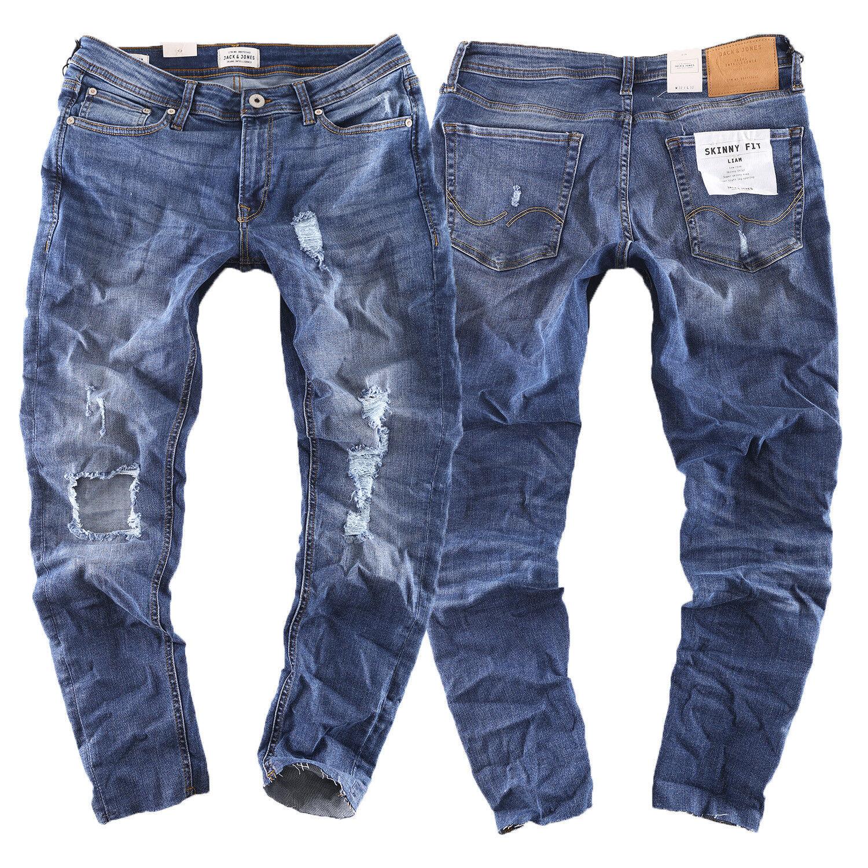 Jack & Jones Liam ORIGINALE Skinny Fit Jeans Uomo Pantaloni Blu Nuovo AM 661 blu NEW