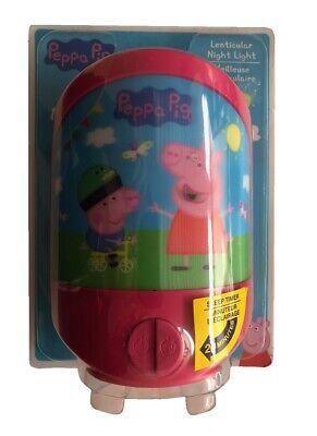 Peppa Pig Lenticular Bedside Nightlight Night Light Lamp Sleep Timer | eBay
