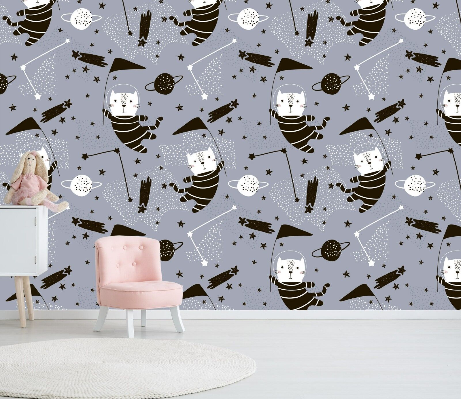 3D Space Cat Universe 67 Wall Paper Wall Print Decal Deco Indoor Wall Mural CA