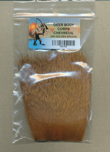 "golden brown     009 natural tanned - 2"" x 3"" Deer body"