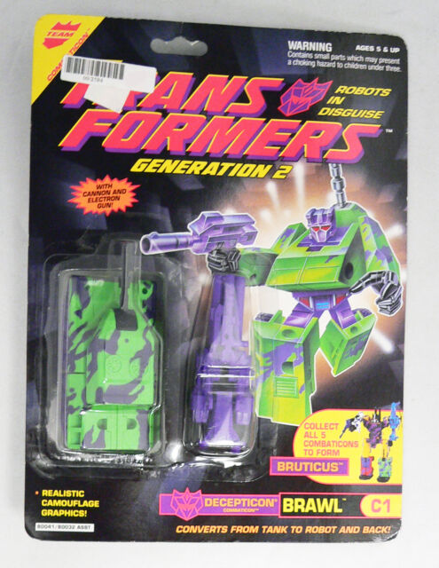 Vintage Hasbro Transformers G2 Robots In Disguise RID Brawl Action Figure Rare
