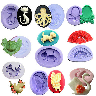 12 Styles Silicone Chocolate Mould Polymer Clay Cake Decorating Fondant Goose 3D