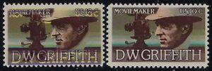 "1555 Huge Multiple Color Shift Error / EFO ""D. W. Griffith"" Mint NH"