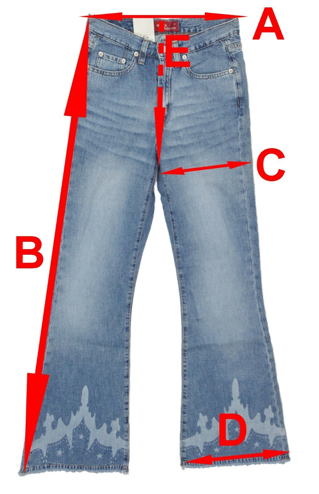 Pantalon Jeans pour Femmes de à Pattes D/'Éléphants Bootcut Étire Bleu TP à TTG