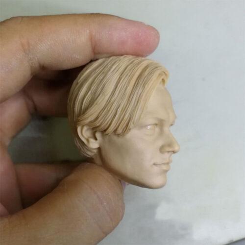 "1//6 Scale Blank Head Sculpt Younger Leonardo DiCaprio Titanic Unpainted Fit 12/"""