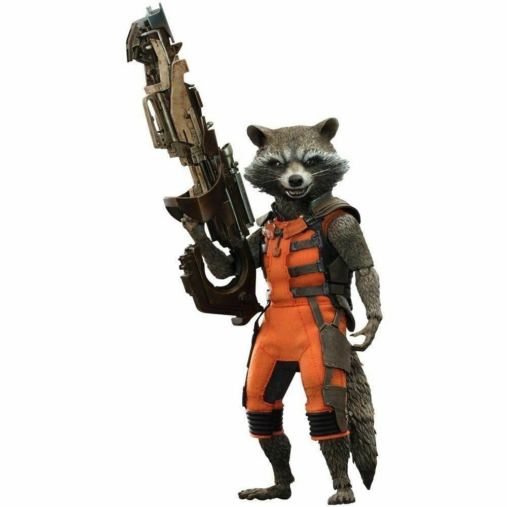 Movie Masterpiece Guardians of the Galaxy Rocket 1 6 Acción Figura Hot Juguetes Nuevo