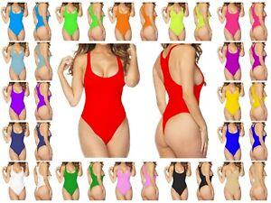 WRBL-Womens-Ladies-Sleeveless-Stretchy-Nylon-Dance-RACERBACK-Bodysuit-Leotard