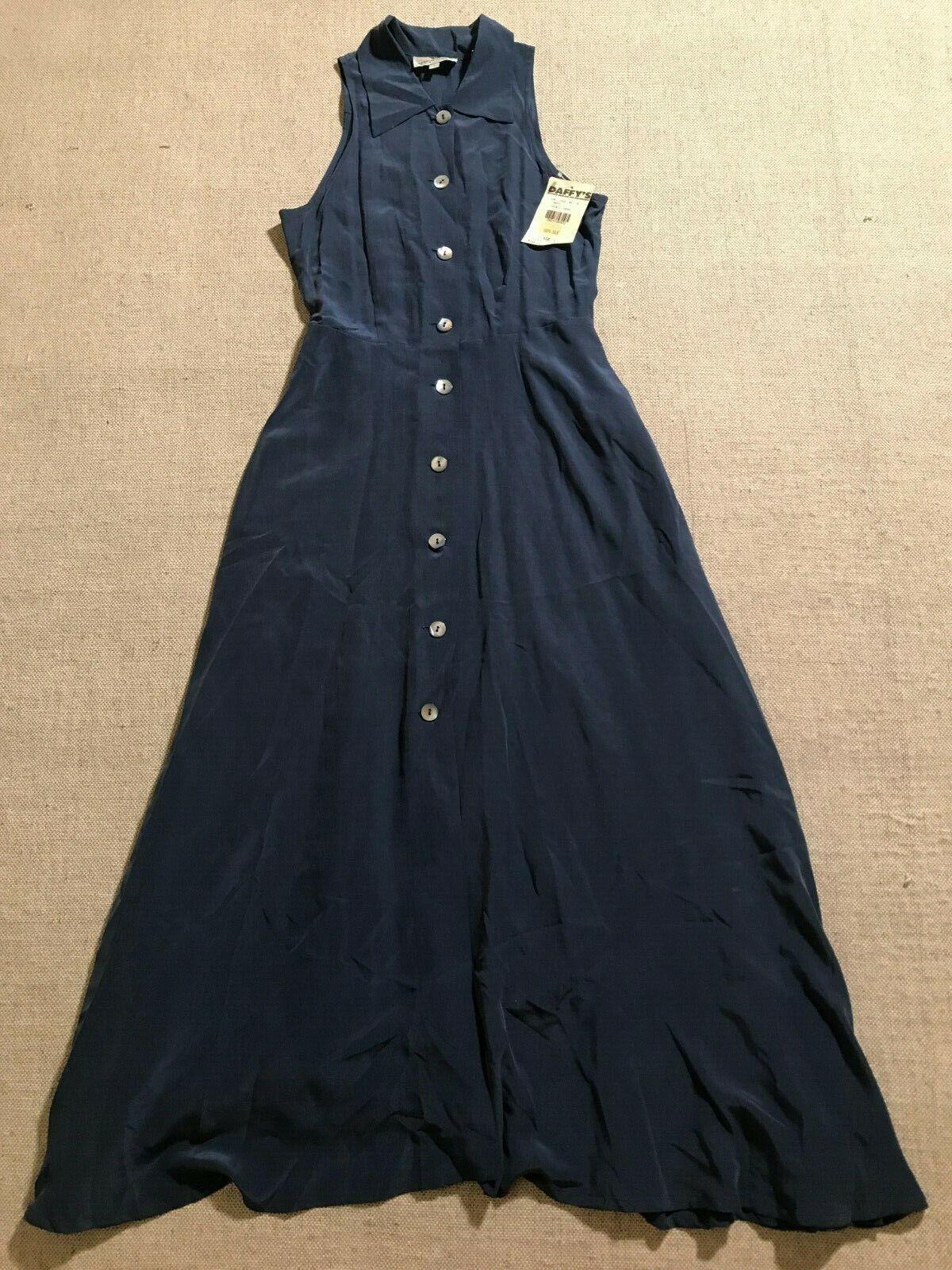 Arnold Zimberg damen's Cut Out Arm Sleeveless Silk Dress 1 2 Button Sz 1  M