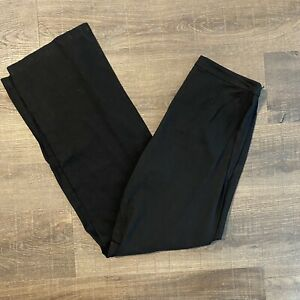 Eileen Fisher Womens Size 6 Black Linen Blend Side Zip Trousers Pants