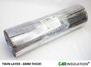 1m x 10m Double Foil Bubble Insulation  6mm Heat Reflective Thermal Bulk Roll UK