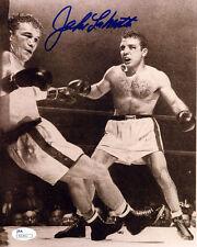 (SSG) Jake LaMotta Signed 8X10 Boxing Photo with a JSA (James Spence) COA