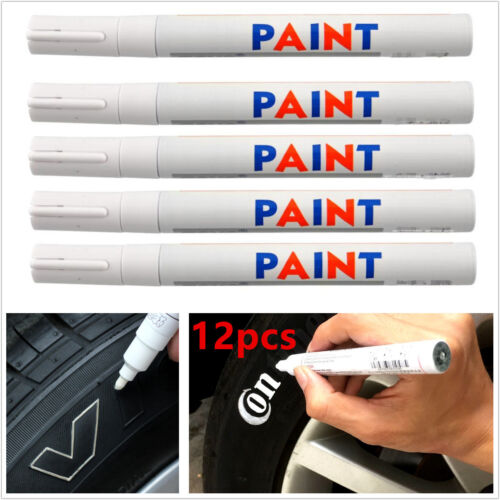 12X Universal Waterproof Permanent Paint Pen Marker for Car Tyres, Arts & Crafts