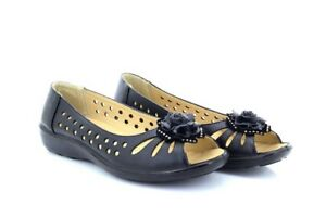 Aufrichtig Damen Cherag Schwarze Blume Zehenfrei Lüftungsschlitz Komfort Sandalen Hausschuhe Damenschuhe