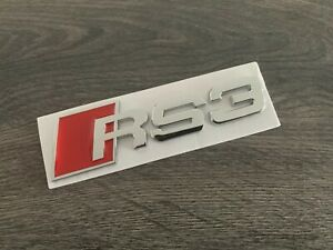 RSQ3 Letter Trunk Tailgate Black Glossy Emblem Rear Badge Sticker for Audi RS Q3
