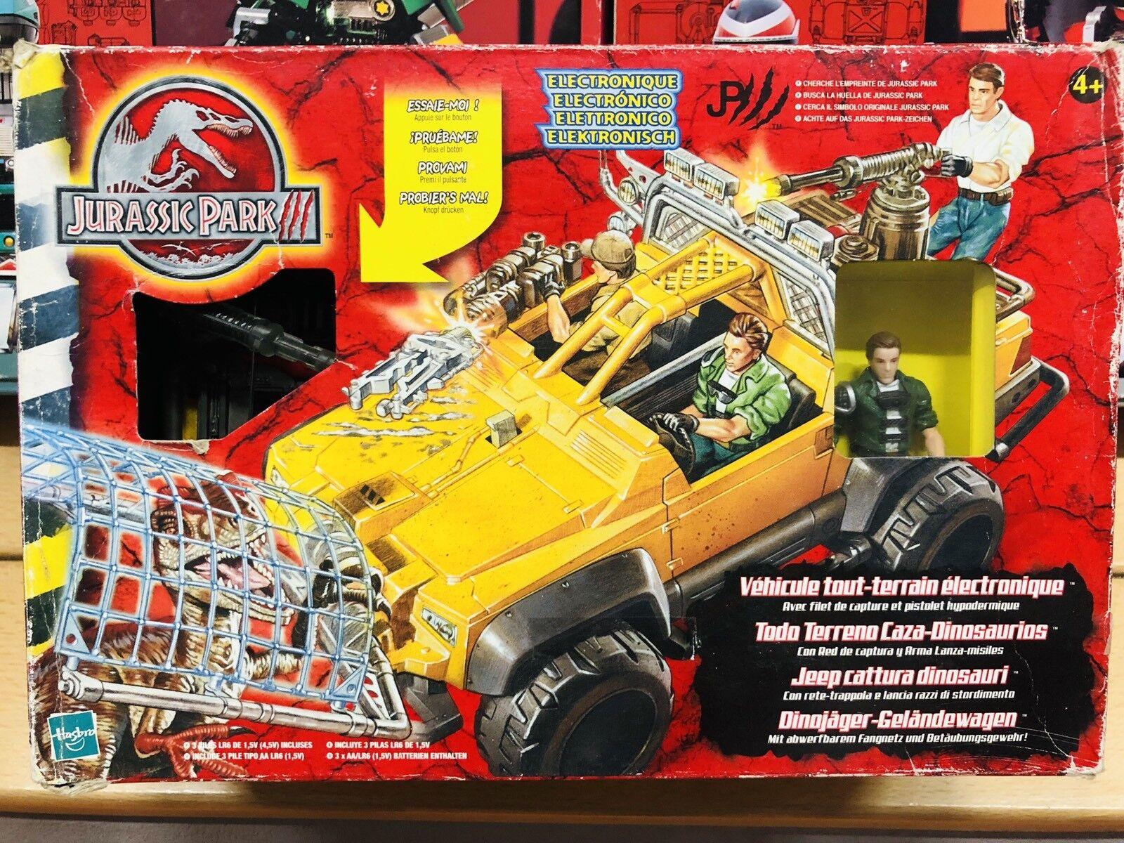 Jurassic park hasbro jeep cattura dinosauri neu