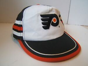 54482df3 Image is loading Vintage-Philadelphia-Flyers-Snapback-Trucker-Hat-Side- Stripe-