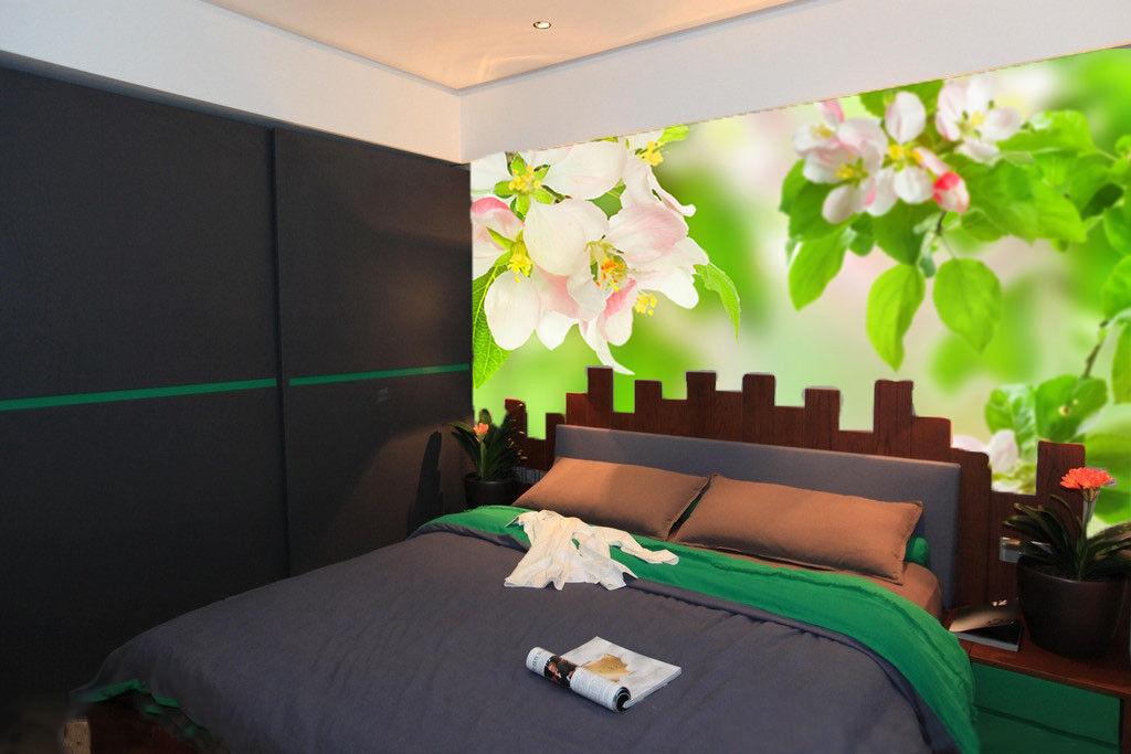 3D Grüne Blattblumen 583 Tapete Tapeten Mauer Foto Familie Tapete Wandgemälde DE