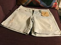 Grane Distressed Cuffed Shorts Junior Size 0,new