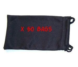 x-50-Bulk-Buy-Sunglasses-Microfibre-Bag-Pouch-Case-Ideal-for-all-Glasses
