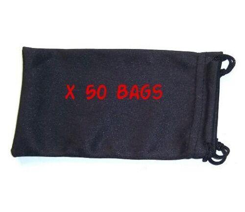 Ideal for all Glasses x 50 Bulk Buy Sunglasses Microfibre Bag Pouch Case