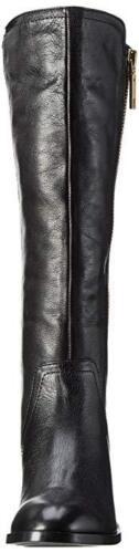 3 nera piatta Mihaela 140 in da Aldo 36 Nero taglia forma Stivali a pelle equitazione Rrp 7nx6Tzd6