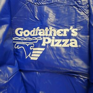 Mariners-Vinyl-Rain-Jacket-Child-039-s-Large-Vintage-70-039-s-Godfather-039-s-Pizza-Ad-NOS