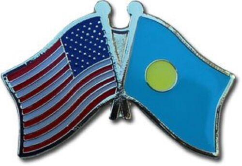 USA American Palau Friendship Flag Bike Motorcycle Hat Cap lapel Pin