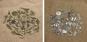 Vintage Antik Anhänger Mix - Bronze / Silber Farbig - Schmuck Anhänger Basteln