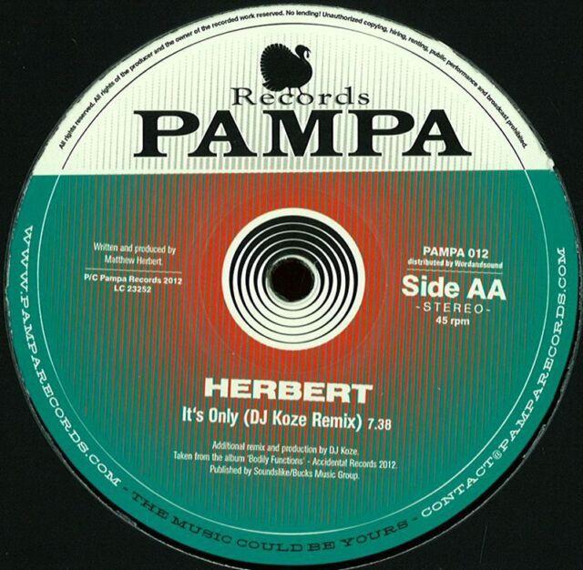 DNTEL, HERBERT - REMIXES BY DIE VÖGEL, DJ KOZE - PAMPA012 Vinyl / Pampa Rec.