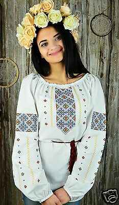 Ukrainian embroidered traditional shirt for ladies, blouse, sorochka vyshyvanka